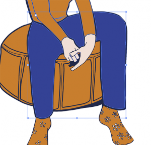 Character with all blue pants shapes selected